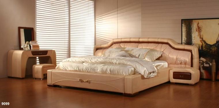 diseño cama cuarto lujosa raso