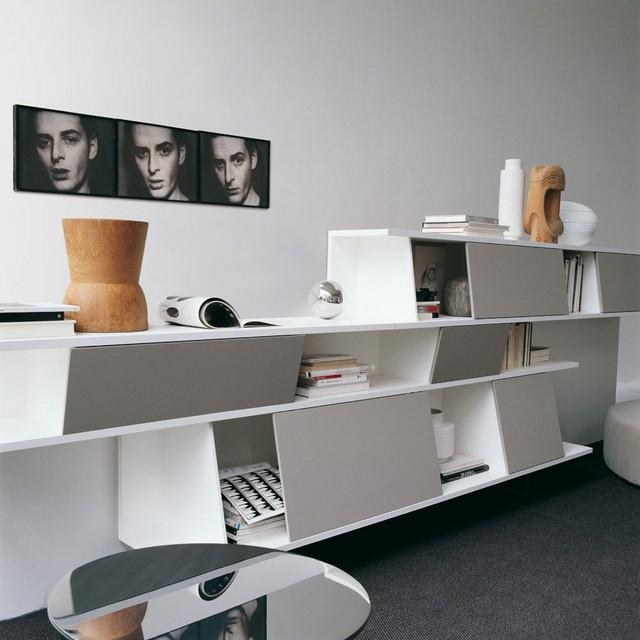 diseño contemporaneo casa blanco interesante bonito