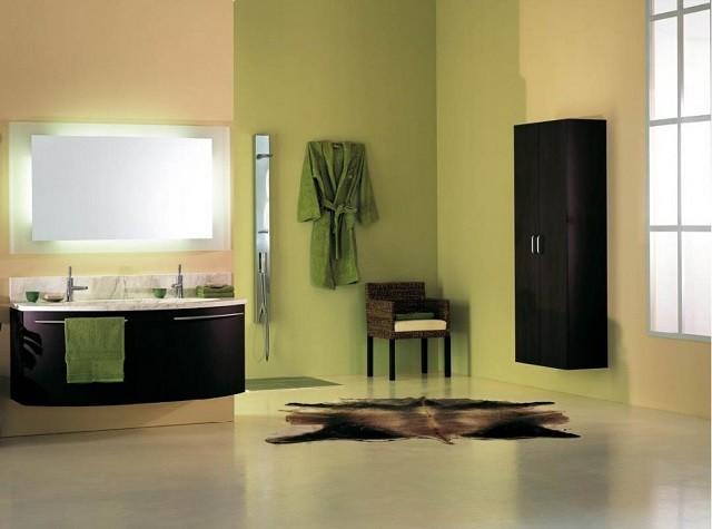 diseño de interiores con colores cálidos baño mobiliario