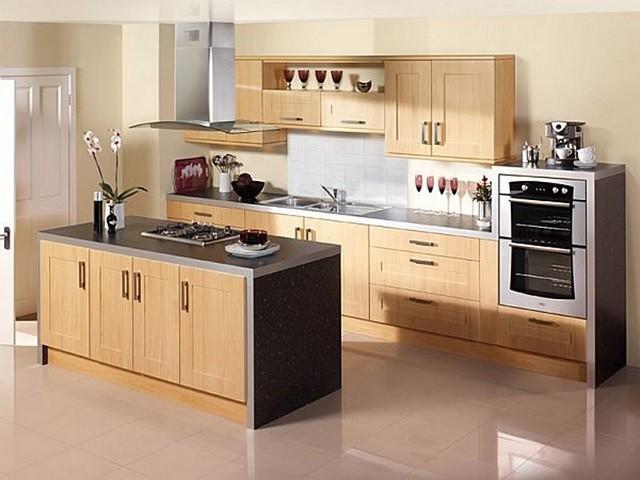 diseño de interiores con colores cálidos cocina mobiliario moderno