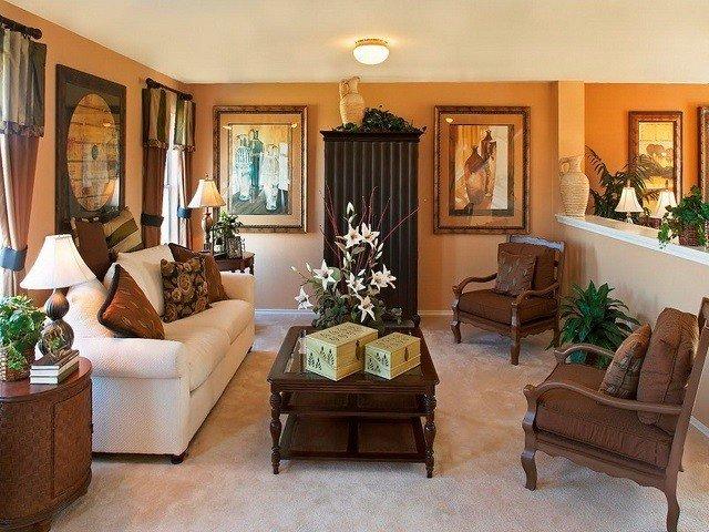 diseño de interiores con colores cálidos decoracion muebles