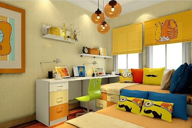 diseño de interiores con colores cálidos habitacion cojines lamparas