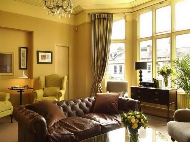 diseño de interiores con colores cálidos muebles salon muebles