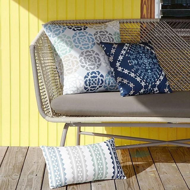 diseño de jardin almohadas estiolo tribial jardin