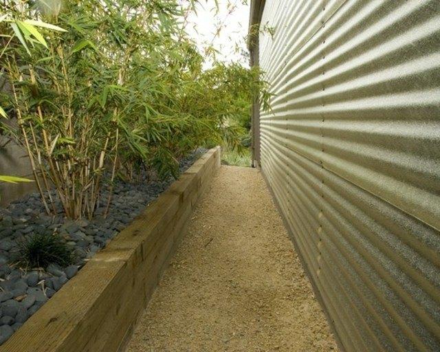 diseo de jardines bambu rocas madera