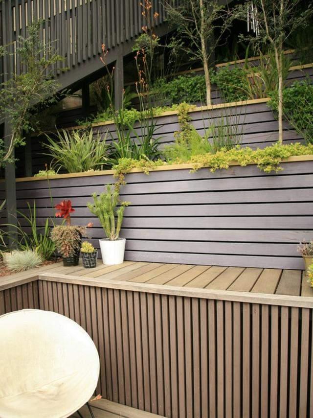 diseño de jardines madera macetasterrazas
