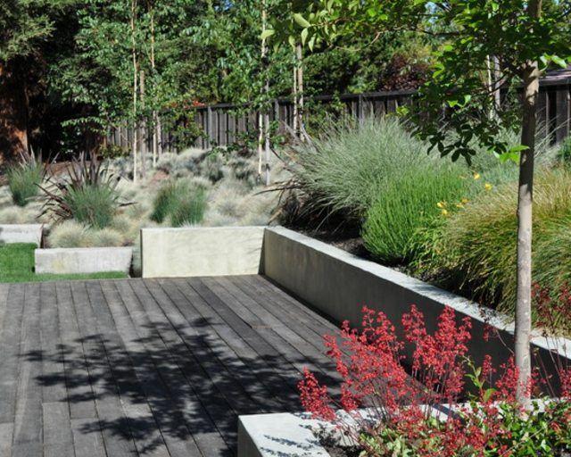 diseño de jardines moderno patio terraza