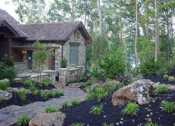 diseño de jardinesterraza rocas plantas