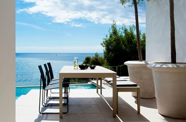 diseño de jardines vistas mar macetas