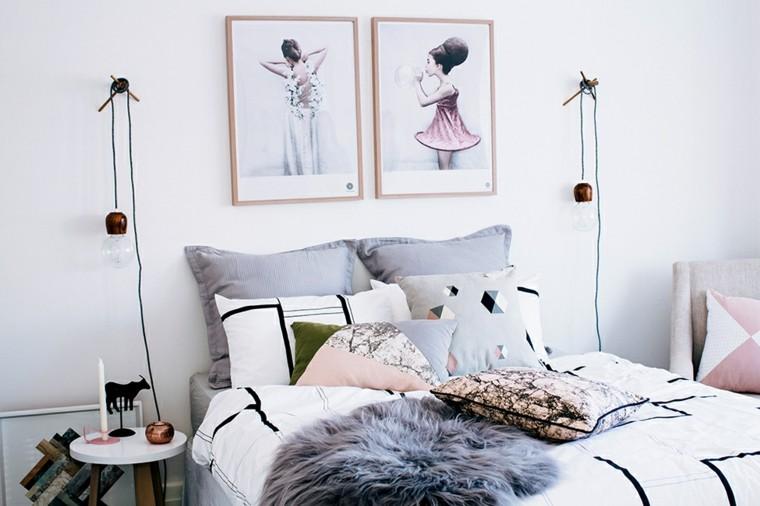 diseño decoración habitación iluminada femenina