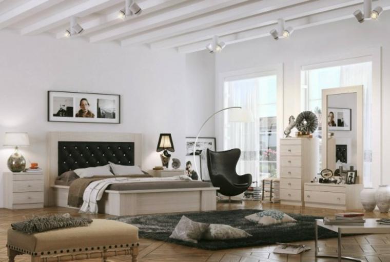 diseño dormitorio espacioso bonito iluminado