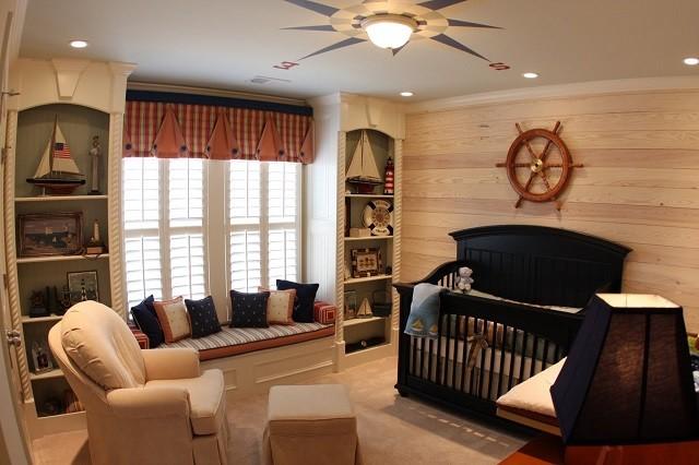 diseño habitacion niños interior madera sofa