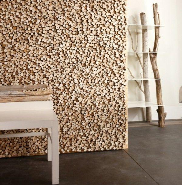 diseño madera de deriva pared
