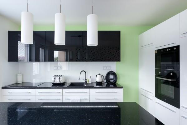 diseño moderno cocina minimalista verde