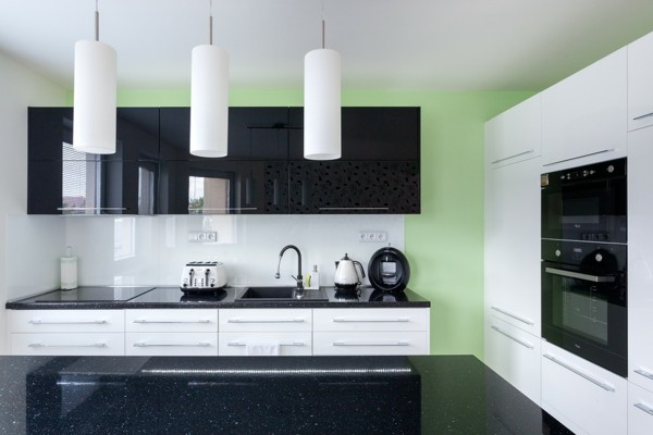 diseo moderno cocina minimalista verde with cocina minimalista - Diseo Minimalista