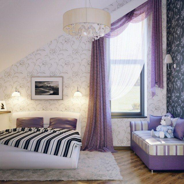 diseo moderno purpura cama comodo alfombra