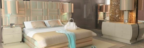 dormitorio blanco perla luz brillante