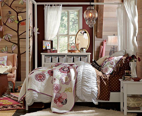 dormitorio cama cuarto adolescente chica