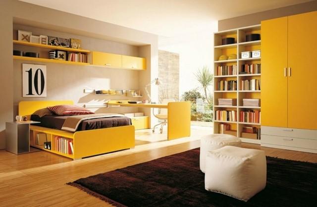 dormitorio chica amarillo muy esoacioso luminoso