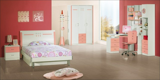 dormitorio chica moderno amplio luminoso suelo
