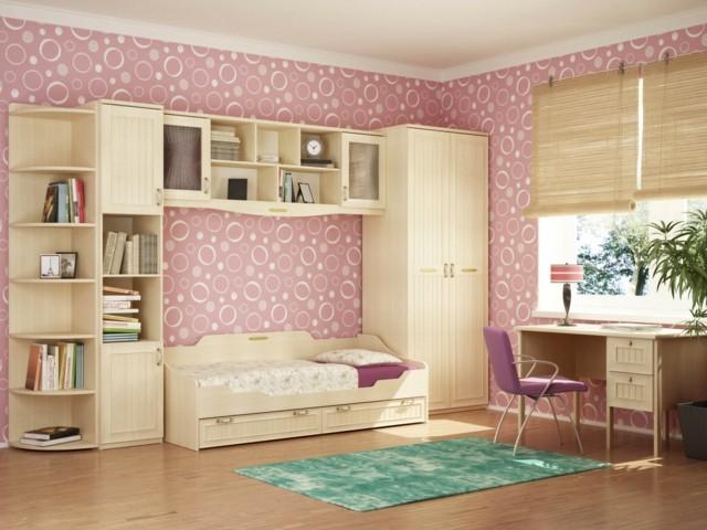 Habitaciones juveniles para chicas adolescentes for Papel pared dormitorio