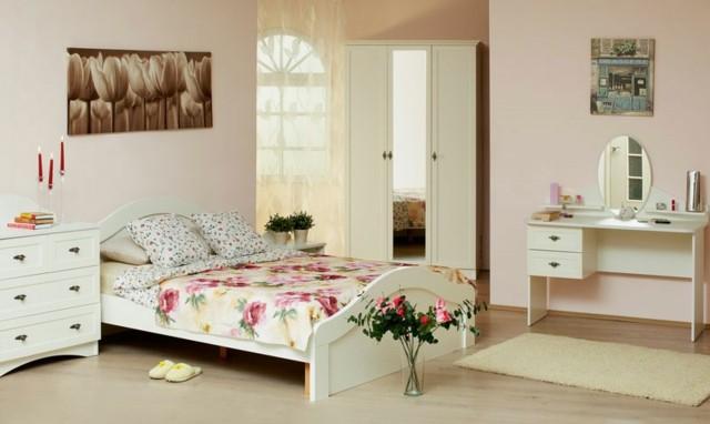 dormitorio chica simple lineas rectas colores unico