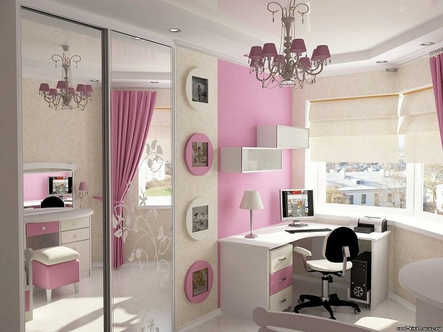 Habitaciones juveniles para chicas adolescentes for Espejo grande habitacion