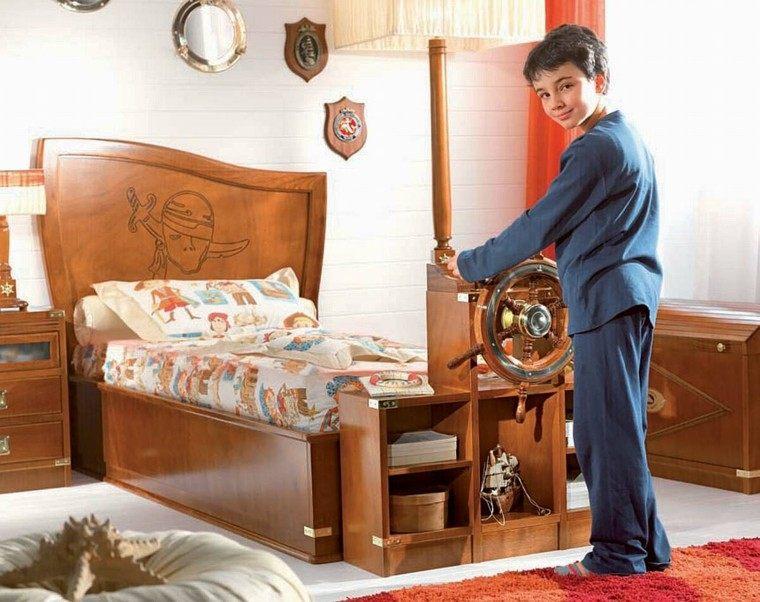 dormitorio chico marinero madera barco