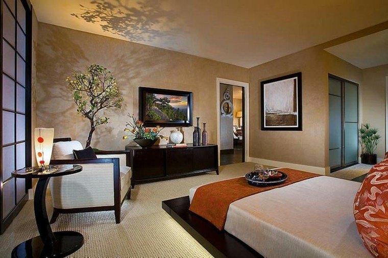 dormitorio decoracin oriental bongsai luz - Decoracion De Interiores Dormitorios