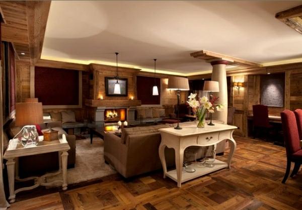 dormitorio diseño rustico alfombra blanco calor
