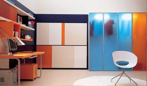 dormitorio jóven muebles extensibles minimalistas