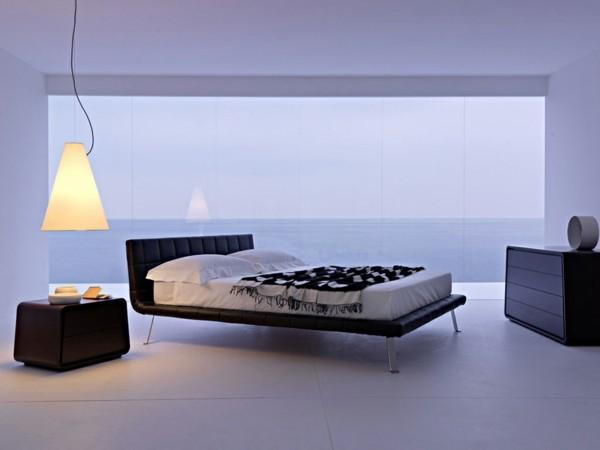 dormitorio lila luz atardecer minimalismo
