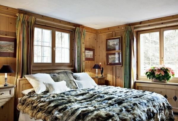 dormitorio luminoso piel cama madera