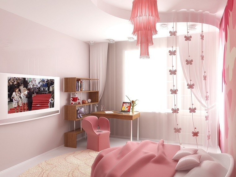 dormitorio moderno precioso silla diseño chica