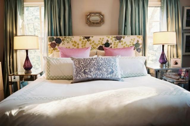dormitorio romantico cojines variedad moderno precioso