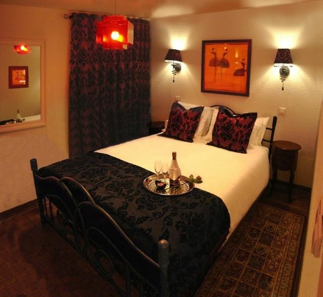 dormitorio romantico iluminacion sutil sombrio bonito