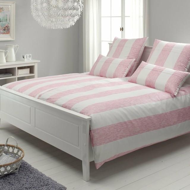 dormitorio romantico rosa blanco elegante bonito