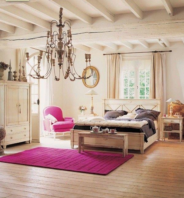 dormitorio rosa adolescente sillón retro