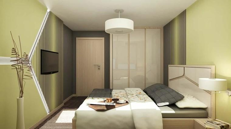 dormitorio verde lima pálido beige
