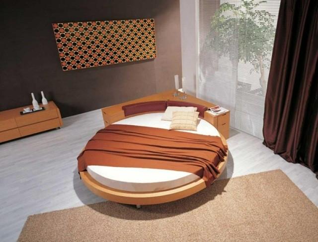 dormitorio zen decoracion simple cama redonda