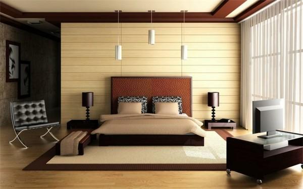 dormitorio moderno placas pared horizontales