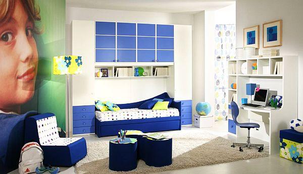 dormitorios azules butaca escritorio fresco