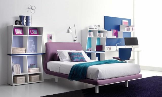 dormitorios estante libro florero lampara
