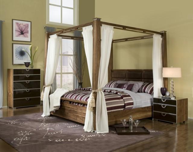 Dormitorios matrimonio con camas con dosel - Cama dosel madera ...