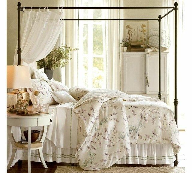 dormitorios matrimonio buenas ideas cama dosel blanco