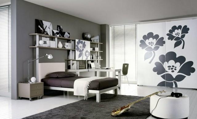 dormitorios modernos guitarra musica plantas alfombra