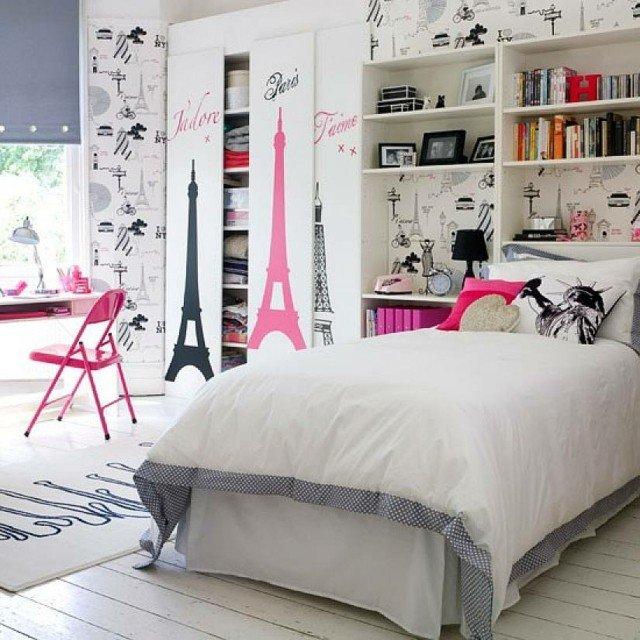 dormitorios modernos rosa chicas torre