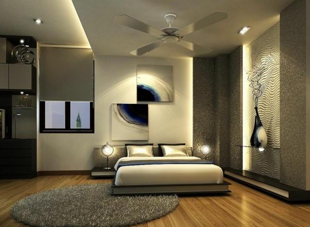 dormitorios nicos clido iluminacion ventilador with iluminacion dormitorio moderno