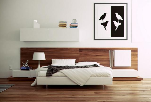 dormitorios únicos cuadro aves madera