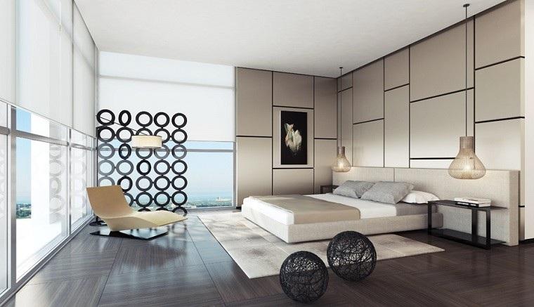 dormitorios únicos lamparas diseño moderno